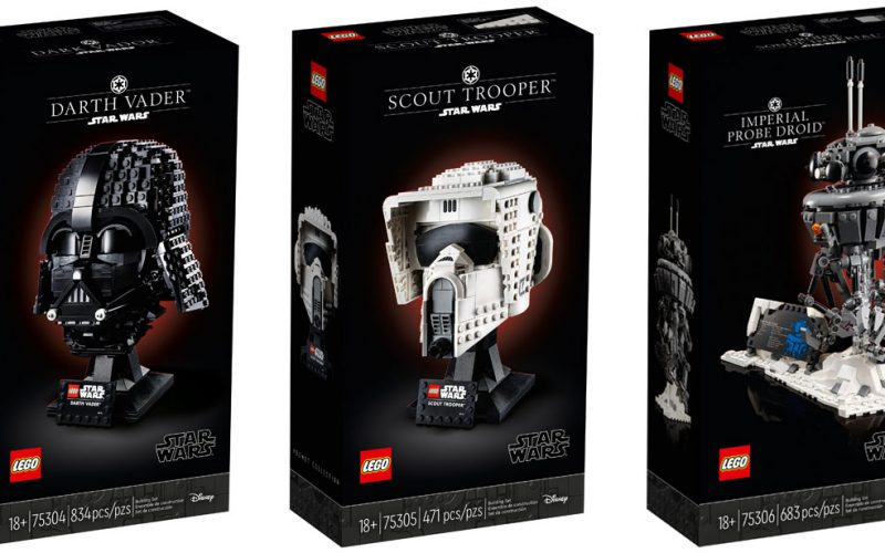 OFFICIALLY ANNOUNCED! LEGO Star Wars Darth Vader Helmet 75304 + Scout Trooper Helmet 75305 + Imperial Probe Droid 75306