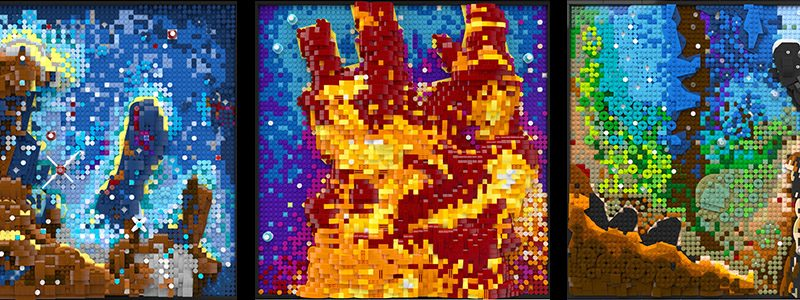 """LEGO RECREATES Famous """"PILLARS OF CREATION"""" Image From The Hubble SpaceTelescope In LEGO Form"""
