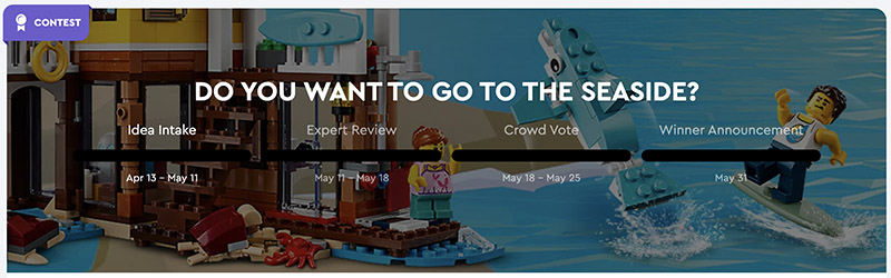LEGO IDEAS CONTEST: Do You Want To Go To The Seaside?