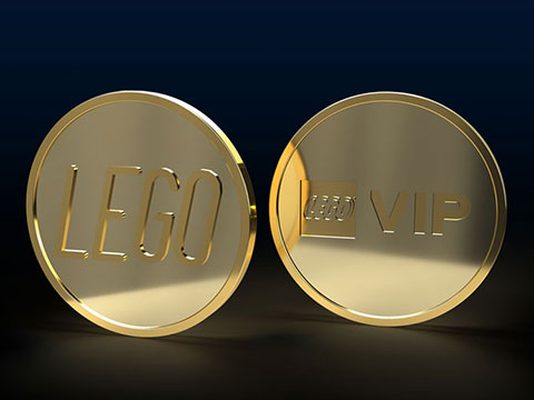 NOW YOU SEE IT, NOW YOU DON'T!! LEGO Fifth & Final Gold Collectable VIP Coin SOLD OUT