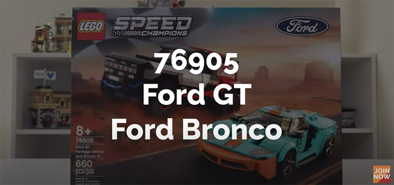 SPEED BUILD!! LEGO Speed Champions Ford GT Heritage Edition & Bronco R 76905