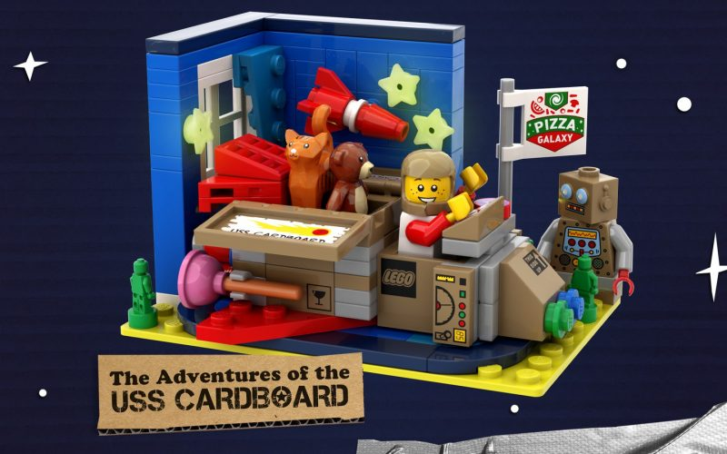 NEW GWP!! LEGO Ideas Space Contest: The Adventures Of The USS Cardboard