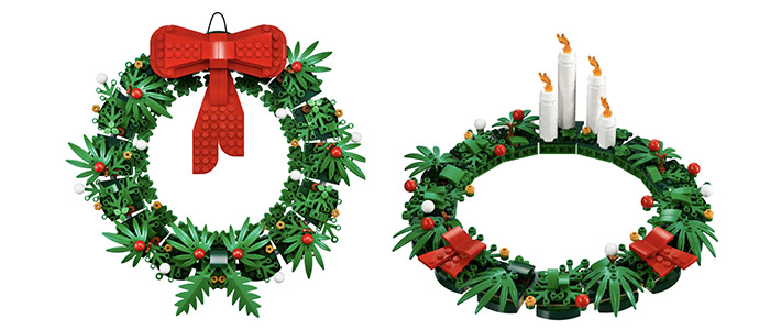BACK IN STOCK!! LEGO 2-in-1 Christmas Wreath 40426