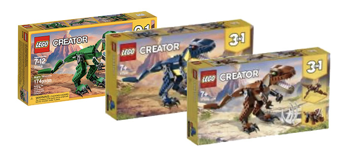 MORE COLOURS?! LEGO Creator 3-in-1 Mighty Dinosaurs 31058